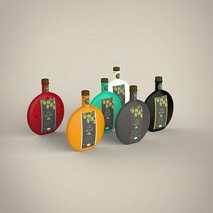 Olive oil bottle 3D model