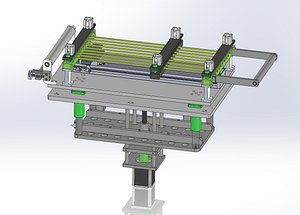 3D Double axle shifting load fine tuning platform