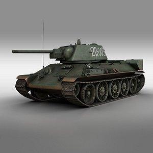 3D t-34 t-34-76 soviet model