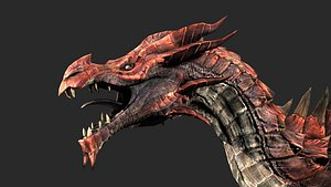 red dragon rigged 3D model