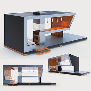 gazebo bar counter model