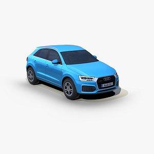 3D Audi Q3 2015 SUV