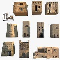 Arab Village Middle Eastern Houses