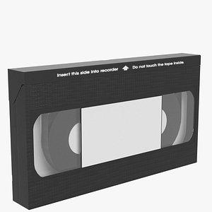 vhs videotape cassette 3d model