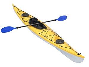 3D model boat kayak watercraft