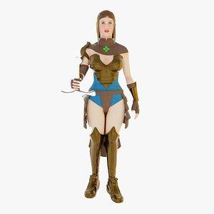 character girl 3D model