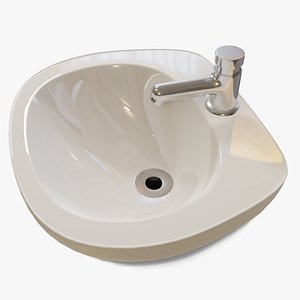 Automatic Bathroom Faucet with Porcelain Sink model