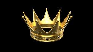 3D Gold Crown 3D Model