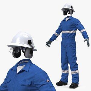 Oil Field Worker Uniform model