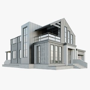 Modern country house model