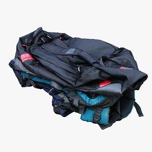 3D model pile bags