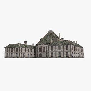 3D Large old buildings barracks general headquarters