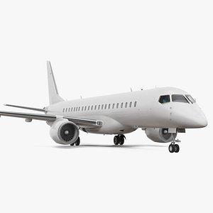 3D regional jet rigged