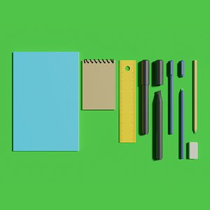 stationery office notebook 3D