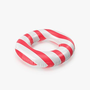 Pool Tubes with Red Striped Print model