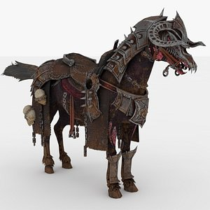 3D Zombie Horse Rigged