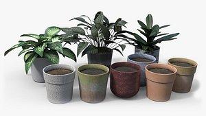 plants pots pbr 3D