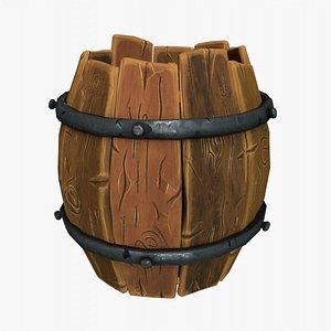 Barrel Stylized 3D model