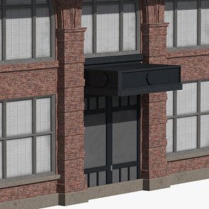 3D ready old industrial building model
