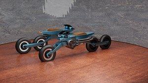 sci fi future bike 2077 3D model
