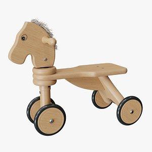 horse wheels 3D