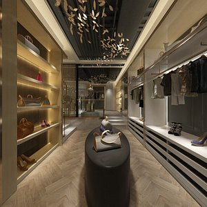 Women Clothing and Jewelery Store 3D