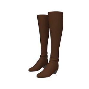 3D model boots cartoon woman