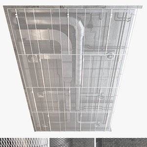 decorative ceiling set 3D model