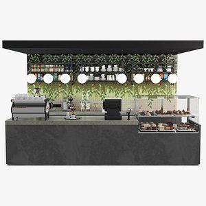 3D model Coffee Shop Display Case