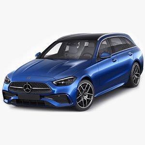 3D Mercedes-Benz C-class estate AMG-line 2021