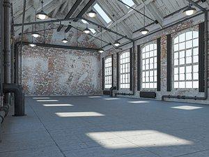 loft warehouse 3D