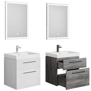 3D Nova 60 white - rochelle oak 2 drawers