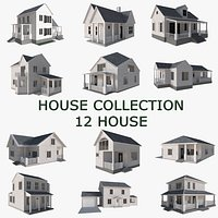 House Collection 12 House Low poly