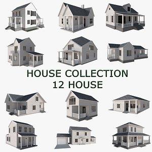 3D house building architecture