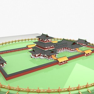 chinese ancient palaced 3D model