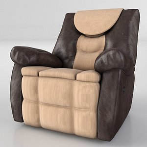 3D armchair couch seat