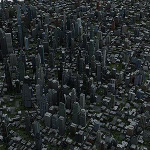 3D Real Time City 18 model