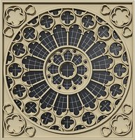 Rose window from Westminster Abbey