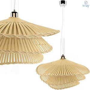 3D pendant lamp natural