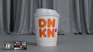 paper cup dunkin 3D model