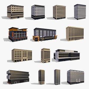 3D Commercial Buildings Collection model