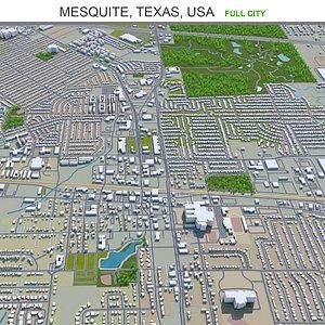 3D model Mesquite Texas USA