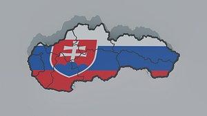 Political Map of Slovakia model
