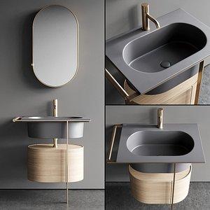 3D vanity single unit