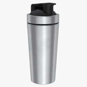 3D Stainless Steel Protein Shaker Bottle model