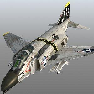 F4 B Navy Phantom II Jolly Rogers VF-84 USS Independence 3D model