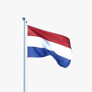 Animated Flag of Netherlands 3D