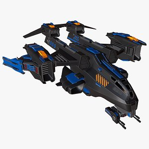 spaceships animation model