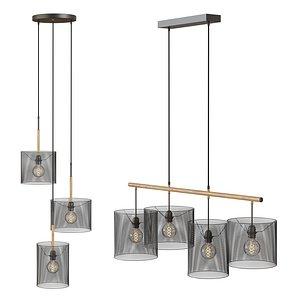 Lucide Baskett - chandelier with Edison lamps model