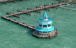 3D floating pier model